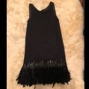 Bailey/44 Feather Trimmed LBD